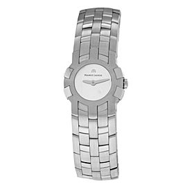 New Lady Maurice Lacroix Milestone IN1013-SS002-191 Steel $1300 Quartz Watch