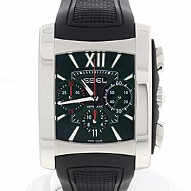 Ebel Brasilia Chronograph Black Dial Stainless Steel Automatic Mens Watch E9126M52