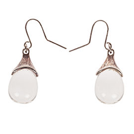 RLM Studio Robert Lee Morris Sterling Silver Crystal Quartz Drop Earrings
