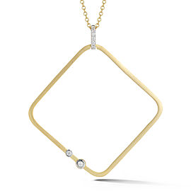 I.Reiss Satin-finish Open Square Pendant