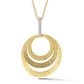 I.Reiss Matte-finish Concentric Circles Pendant