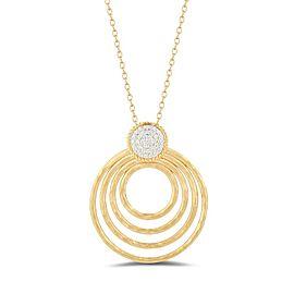 I. Reiss IR3627Y 14k Yellow Gold diamonds0.22 H-SI Diamonds Necklace