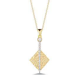 I.Reiss Matte And Hammer-Finished Diamond-shaped Pendant