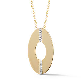 I.Reiss Polish-finished Open Oval Pendant