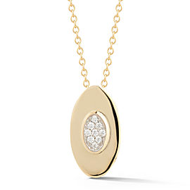 I.Reiss Polish-finished Small Oval Pendant