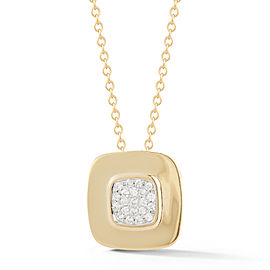 I.Reiss Polish-finished Square Pendant