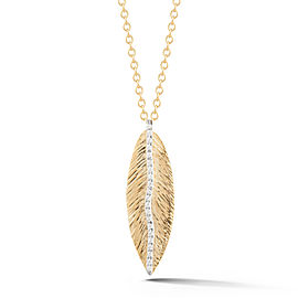 I.Reiss Polish-finished Feather Pendant