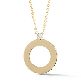 I.Reiss 14K Yellow Gold 0.05 Diamond Necklace