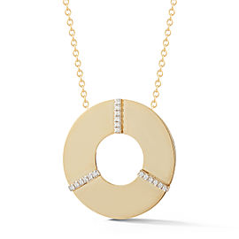 I.Reiss Polish-finished Open Circle Pendant