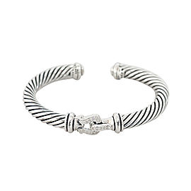 David Yurman Cable Classic Buckle Cuff Bracelet with Diamonds 7MM