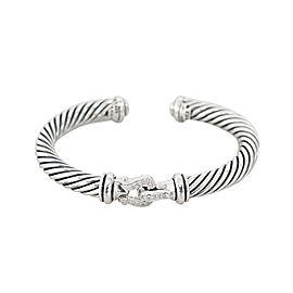 David Yurman Cable Classic Buckle Cuff Bracelet with Diamonds 7MM