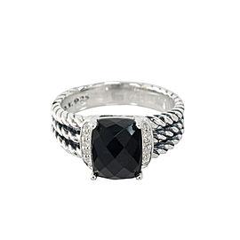 590da27f19a6a David Yurman Petitie Wheaton Ring with Black Onyx and Diamonds