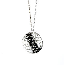 Tiffany & Co. Notes Circle Tag Necklace