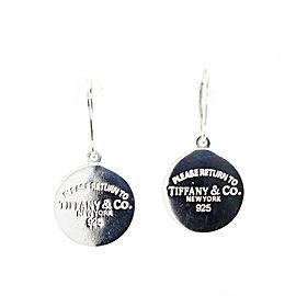 "Tiffany & Co. ""Please Return To Tiffany"" Round Tag Earrings"