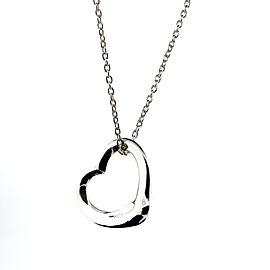Tiffany & Co. Paloma Picasso Open Heart Pendant Medium Necklace