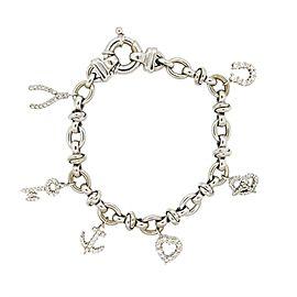 Roberto Coin Diamond 18K White gold Charm Bracelet