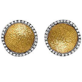 Roberto Coin Diamond 18K Gold Earrings