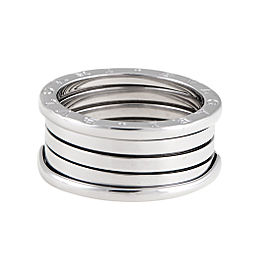 "Bulgari White Gold 4 Band ""B.Zero 1"" Ring 9.75"