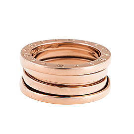 "Bulgari Rose Gold 3 Band ""B.Zero 1"" Ring 5.5"