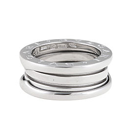 "Bulgari White Gold 3 Band ""B.Zero 1"" Ring 5.5"