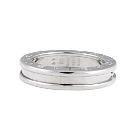"Bulgari White Gold 1 Band ""B.Zero 1"" Ring 5"