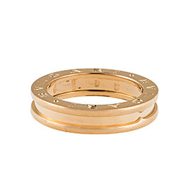"Bulgari Yellow Gold 1 Band ""B.Zero 1"" Ring 7.5"