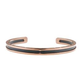 "Bulgari Rose Gold, Steel ""B.Zero 1"" Bracelet 6.5"