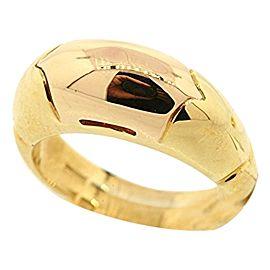 Bulgari 18k Yellow Gold Rare Rose Wedding Heavy Band Ring