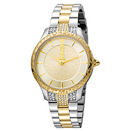 Just Cavalli Women's Animal Chantilly Gold Dial Stainless Steel Watch