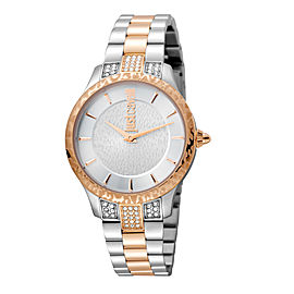 Just Cavalli Women's Animal Chantilly Silver Dial Stainless Steel Watch