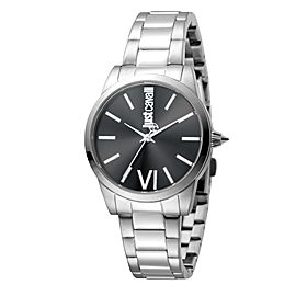 Just Cavalli Women's Relaxed Velvet Black Dial Stainless Steel Watch