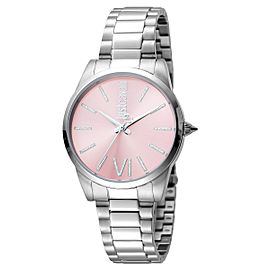 Just Cavalli Women's Relaxed Pink Dial Stainless Steel Watch