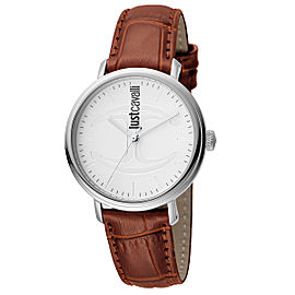 Just Cavalli Women's CFC White Dial Calfskin Leather Watch