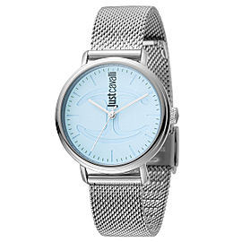 Just Cavalli Women's CFC Blue Dial Stainless Steel Watch