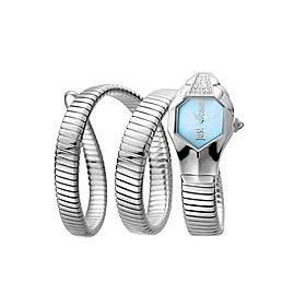 Just Cavalli Women's Glam Chic Ice Blue Dial Stainless Steel Watch