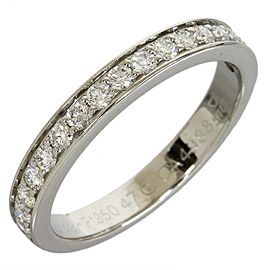 Cartier Pt950 Platinum Half Eternity 17P Diamonds Ring