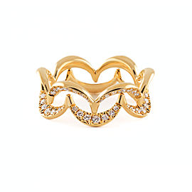 Jado Crown Sunshine Duo 18k Yellow Gold Diamonds Ring