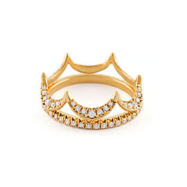 Jado Crown Eternity Sunshine Duo 18k Yellow Gold Diamonds Ring