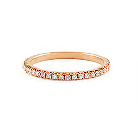 Jado Crown Rose Provence Diamond Eternity Ring 18k Rose Gold Diamonds Ring