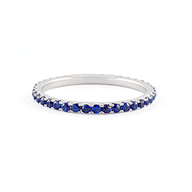 Jado Crown Luminosity Sapphire Eternity Ring 18k White Gold Ring