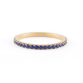 Jado Crown Sunshine Sapphire Eternity Ring 18k Yellow Gold Blue Sapphires Ring