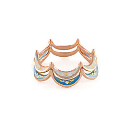 Jado Crown Flora Float 18k Rose Gold Ring