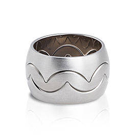 Jado Crown Men Muse Luminosity Trio 18k White Gold Ring