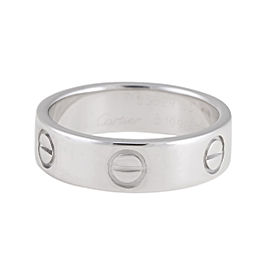 Cartier Platinum Love Ring Size 7.25