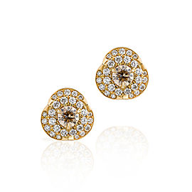 Jado Crown Cercle 18k Yellow Gold Diamonds Earrings
