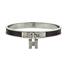 Hermes H Lock Purple Pattern Cuff