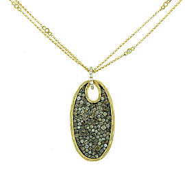 14K Yellow Gold and Diamond Fancy Shaped Necklace