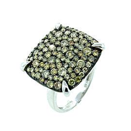 14K White Gold Fancy Colored Diamond Ring