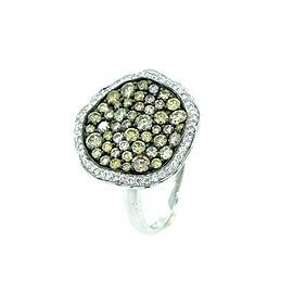 14K White Gold and Diamond Ring