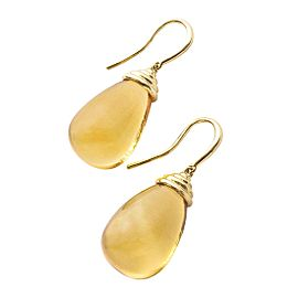 Goshwara Scala 18k Yellow Gold Citrine Earrings